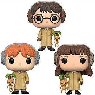 Funko Pop Harry Potter 3 Pack Harry Ron & Hermione Herbology