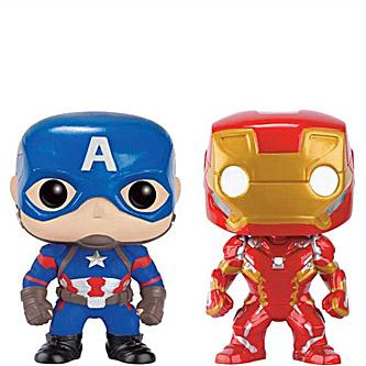 Funko Pop Marvel Captain America Civil War 2 Pack Captain America Iron Man 2