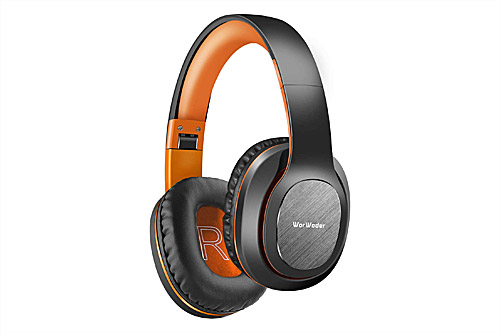 WorWoder W-915 Headphones - Black Orange