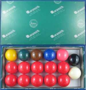 SNOOKER BALL SET - ARAMITH - 1 7/8""