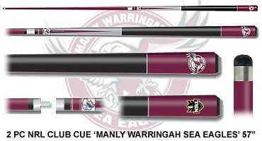 2pc OFFICIAL NRL CLUB LOGO CUE - Manly Sea Eagles