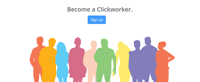 Clickworker sign up