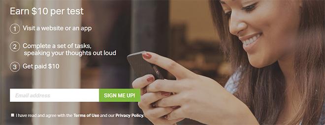 Usertesting.com review sign-up process