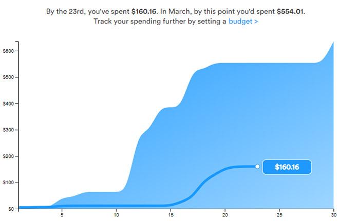 Trim review spending tracker
