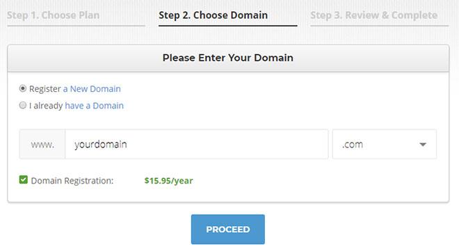 SiteGround domain registration