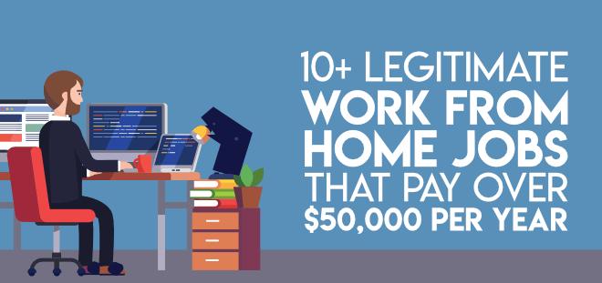 Legitimate work from home jobs