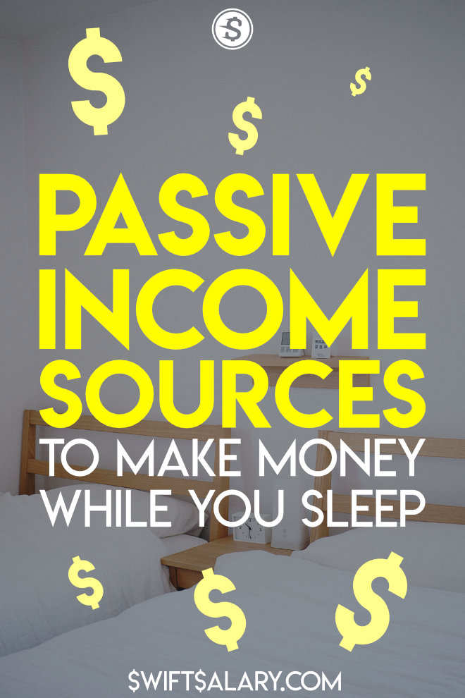This list of passive income sources provides a passive income opportunity for EVERYONE. If you're looking for new ways to make money while you sleep, or you want to learn more about passive income in general, check this post out.