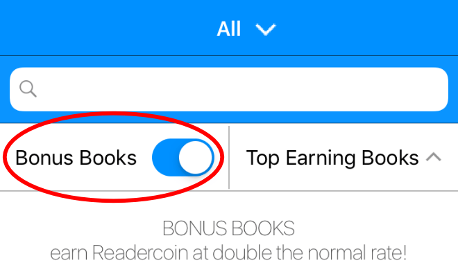 Readercoin bonus books