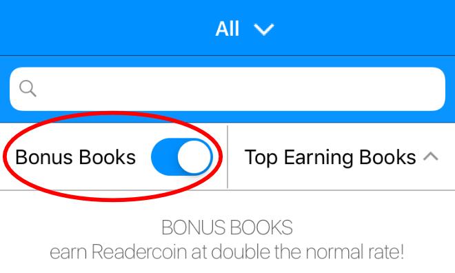 Readercoin bonus books