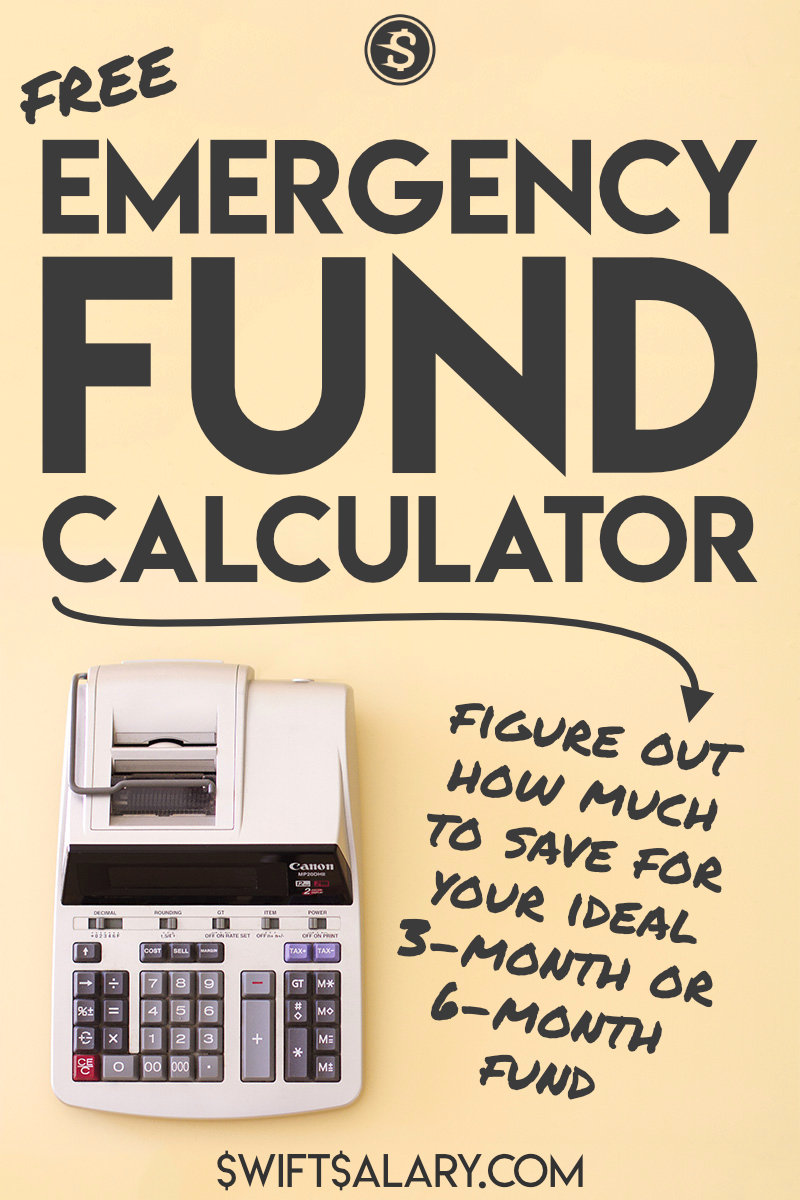 3-month and 6-month emergency fund calculator