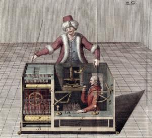 Mechanical Turk chess machine