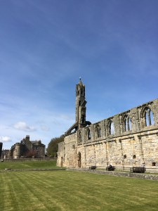 St Andrews cathedral in the sunshine