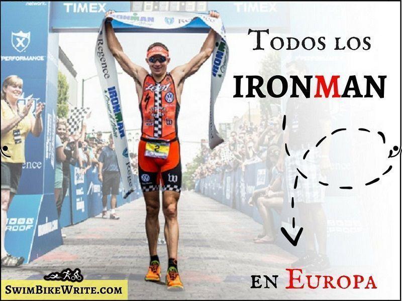 Calendario Triatlon 2019.Calendario 2019 Todas Las Pruebas Ironman En Europa
