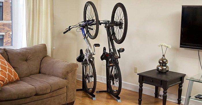 colgar bicicleta soporte