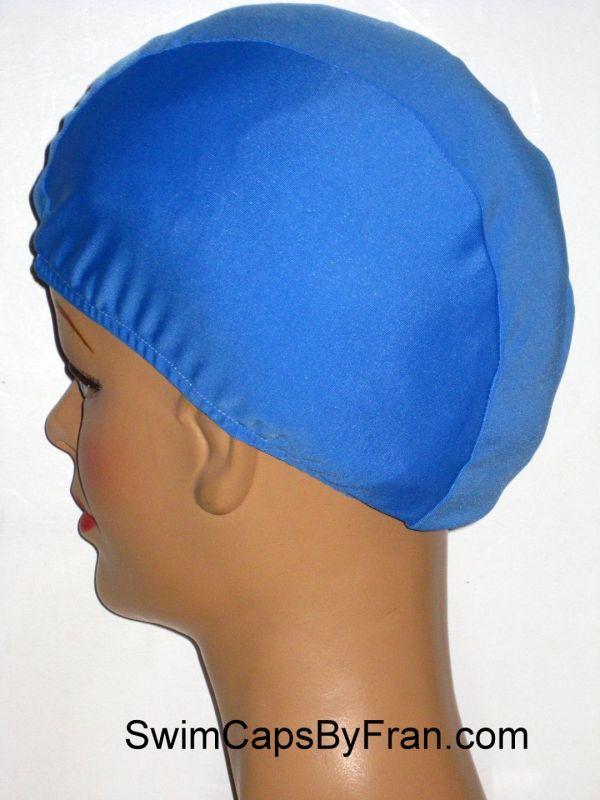 Extra Large Sky Blue Lycra Swim Cap Xl