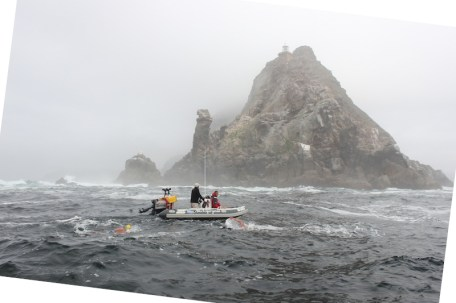 Rounding Cape Point in tough conditions