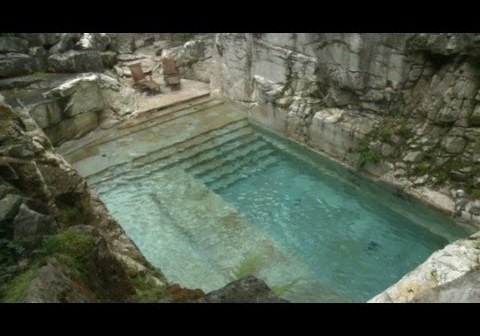 Rock Quarry Turned Into Luxurious Home Swimming Pool   Swimmer\'s Daily