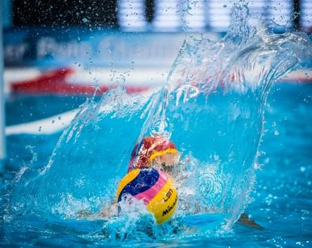 LEN European Water Polo Championships 2016 Croatia CRO (White) Vs Spain ESP (Blue) Women 13 HERRERA Patricia ESP Kombank Arena, Belgrade, Serbia Day02 11-01-2016 Photo G. Scala/Insidefoto/Deepbluemedia