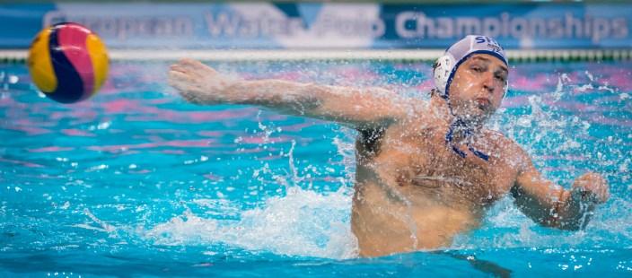 LEN European Water Polo Championships 2016 Serbia SRB (White) Vs Malta MLT (Blue) Men 7 NIKIC Slobodan SRB Kombank Arena, Belgrade, Serbia Day03 12-01-2016 Photo G.Scala/Insidefoto/Deepbluemedia