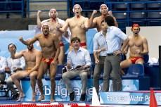 ESP bench ESP - NED Men Spain (White Cap) Vs. Netherlands (Blue caps) LEN European Water Polo Championships 2016 Kombank Arena, Belgrade, Serbia Day05 14-01-2016 Photo G.Scala/Insidefoto/Deepbluemedia
