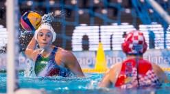 LEN European Water Polo Championships 2016 Italy ITA (White) Vs Croatia CRO (Blue) Women 8 GARIBOTTI Arianna ITA Kombank Arena, Belgrade, Serbia Day06 15-01-2016 Photo G. Scala/Insidefoto/Deepbluemedia