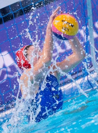 LEN European Water Polo Championships 2016 Greece GRE (White) Vs Turkey TUR (Blue) Women 1 KOUVDOU Eleni GK GRE Kombank Arena, Belgrade, Serbia Day07 16-01-2016 Photo P. Mesiano/Insidefoto/Deepbluemedia