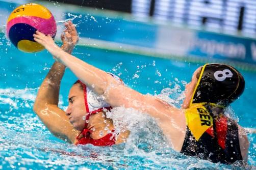3 ESPAR Anna ESP LEN European Water Polo Championships 2016 Women ESP - GER Spain (White) Vs Germany (Blue) Kombank Arena, Belgrade, Serbia Day08 17-01-2016 Photo G. Scala/Insidefoto/Deepbluemedia