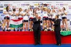 Podio Team Hungary Gold Medal LEN European Water Polo Championships 2016 Kombank Arena, Belgrade, Serbia Day13 22-01-2016 Photo G. Scala/Insidefoto/Deepbluemedia