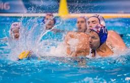 LEN European Water Polo Championships 2016 Russia RUS (White) Vs Croatia CRO (Blue) Men 10 PAVLOVIC Boris CRO Kombank Arena, Belgrade, Serbia Day14 23-01-2016 Photo P. Mesiano/Insidefoto/Deepbluemedia