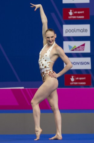 ROMASHINA Svetlana RUS RUSSIA gold medal London, Queen Elizabeth II Olympic Park Pool LEN 2016 European Aquatics Elite Championships Synchro Solo Technical final Day 04 12-05-2016 Photo Giorgio Perottino/Deepbluemedia/Insidefoto