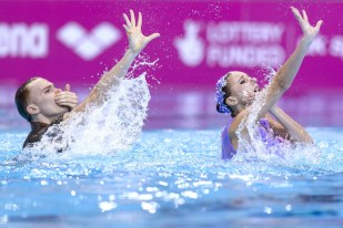 MALTSEV Aleksandr KALANCHA Mikhaela RUS RUSSIA Gold Medal Mixed Duet Final London, Queen Elizabeth II Olympic Park Pool LEN 2016 European Aquatics Elite Championships Synchronized Swimming Day 05 13-05-2016 Photo Andrea Staccioli/Deepbluemedia/Insidefoto