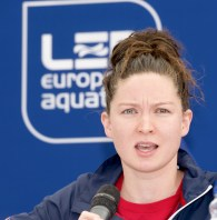 Olivia Federici GBR Synchro London, Queen Elizabeth II Olympic Park Pool LEN 2016 European Aquatics Elite Championships Press Conference Day 00 07-05-2016 Photo Giorgio Scala/Deepbluemedia/Insidefoto