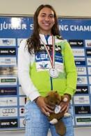 Celik Tina SLO 50 Breaststroke Women Final Gold Medal LEN 43rd Arena European Junior Swimming Championships Hodmezovasarhely, Hungary Day01 06-07-2016 Photo Andrea Masini/Deepbluemedia/Insidefoto