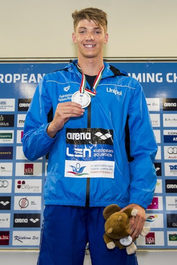 Miressi Alessandro ITA 100 Freestyle Men Final Gold Medal LEN 43rd Arena European Junior Swimming Championships Hodmezovasarhely, Hungary Day03 08-07-2016 Photo Andrea Masini/Deepbluemedia/Insidefoto