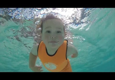 Babies learn to swim before they can walk