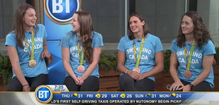 Penny Oleksiak and Women's Relay Swim Team