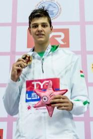 NEMETH Nandor HUN 100m Freestyle Men Final Gold Medal LEN 44th European Junior Swimming Championships Netanya, Israel Day03 30-06-2017 Photo Andrea Masini/Deepbluemedia/Insidefoto