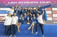 Greece GRE Winner of the 1st LEN Europa Cup 1st place LEN Europa Cup Women 2018 finals Water Polo, Pallanuoto Pontevedra, Spain Complejo Rias do sur Day03 Photo © Giorgio Scala/Deepbluemedia/Insidefoto