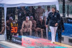 Spandau (white cap) vs Eger (blue cap) Referee LEN Champions League Final Eight 2018 08/06/2018 Semi Final 5-8 Piscina Sciorba Genova Italy Photo © G.Scala/Deepbluemedia/inside