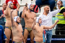 Barceloneta (white cap) vs Jug Dubrovnik (blue cap) Team Barceloneta LEN Champions League Final Eight 2018 09/06/2018 Final 3-4 Piscina Sciorba Genova Italy Photo © G.Scala/Deepbluemedia/inside