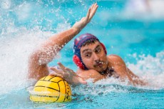 Barceloneta (white cap) vs Jug Dubrovnik (blue cap) 12 BUSTOS SANCHEZ Alejandro LEN Champions League Final Eight 2018 09/06/2018 Final 3-4 Piscina Sciorba Genova Italy Photo © G.Scala/Deepbluemedia/inside