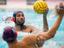 Barceloneta (white cap) vs Jug Dubrovnik (blue cap) 6 GARCIA GADEA Javier LEN Champions League Final Eight 2018 09/06/2018 Final 3-4 Piscina Sciorba Genova Italy Photo © G.Scala/Deepbluemedia/inside