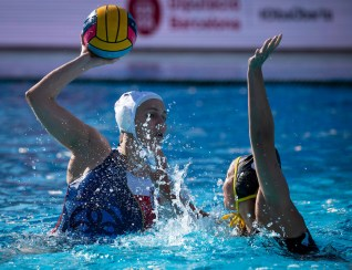 12 CF JAKOVLJEVIC Tijana SRB-GER Serbia (white caps) vs. Germany (blue caps) Barcelona (ESP) 14/07/18 Piscines Bernat Picornell Women qualification 33rd LEN European Water Polo Championships - Barcelona 2018 Photo Pasquale Mesiano/Deepbluemedia/Insidefoto