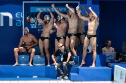 GER - Germany Team GER - GEO Germany (white caps) vs. Georgia (blue caps) Barcelona 18/07/18 Piscines Bernat Picornell Men qualification 33rd LEN European Water Polo Championships - Barcelona 2018 Photo Pasquale Mesiano/Deepbluemedia/Insidefoto