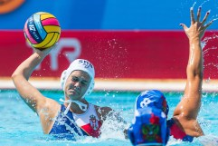 Katarina Cegar - Serbia Serbia (white caps) vs. Russia (blue caps) Woman qualification 33rd LEN European Water Polo Championships - Barcelona 2018 Barcelona (ESP) - Piscines Bernat Picornell Photo Marcel ter Bals/Deepbluemedia/Insidefoto
