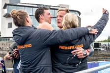 Team NETHERLANDS Gold Medal VERMEULEN Esmee VAN ROUWENDAAL Sharon SMITS Pepijn Maxime WEERTMAN Ferry Glasgow 11/08/2018 Open Water Swimming Loch Lomond and The Trossachs National Park LEN European Aquatics Championships 2018 European Championships 2018 Photo Andrea Staccioli /Deepbluemedia /Insidefoto