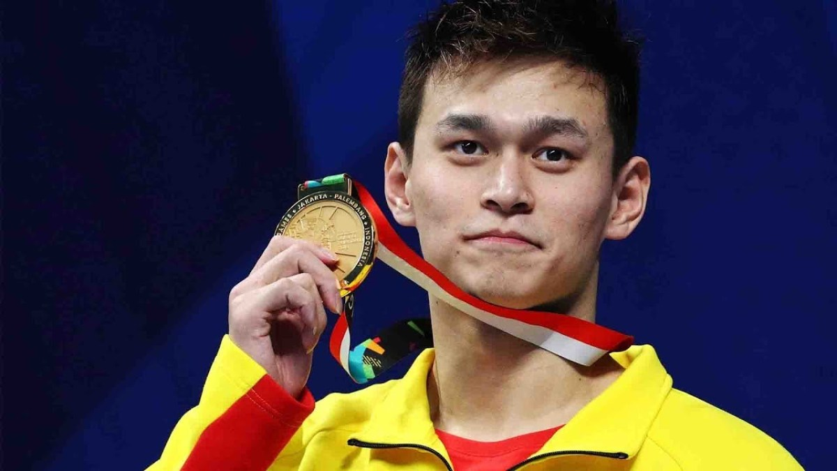 China's Olympic champion swimmer Sun Yang launches Asian Games charm offensive