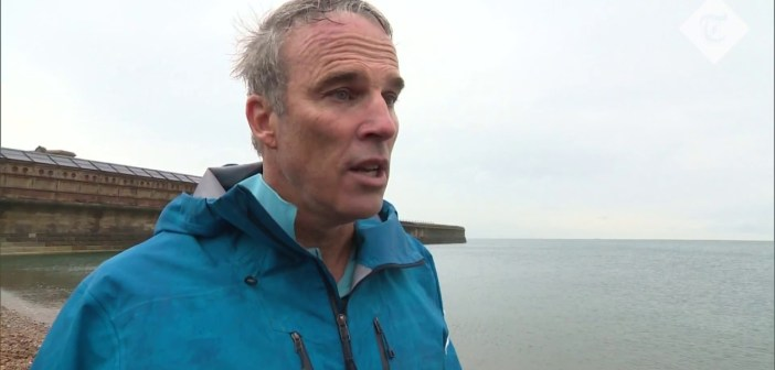 Epic Channel swim ends with plastics warning