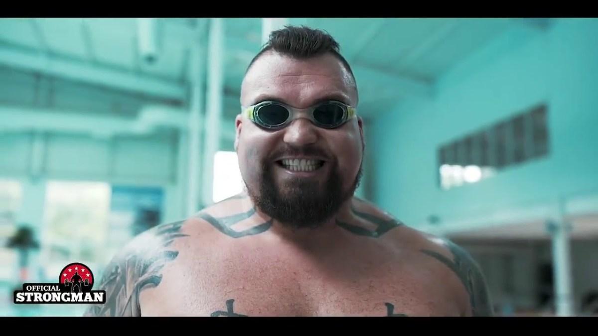 Cardio training (Swimming Exercise) for big guys is unique. - Eddie Hall