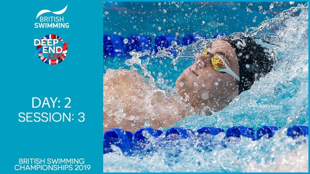 Live Stream: British Swimming Championships 2019 – Session 3
